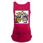Cats In Love Maternity Tank Top