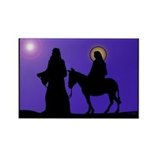 Mary & Joseph Rectangle Magnet