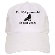 50 birthday dog years lab 2 Baseball Baseball Cap