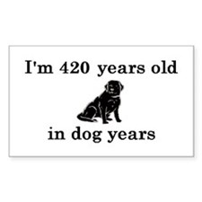 60 birthday dog years lab 2 Decal