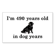 70 birthday dog years lab 2 Decal