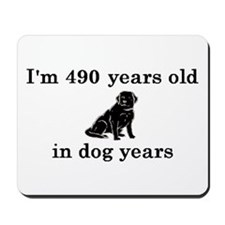 70 birthday dog years lab 2 Mousepad