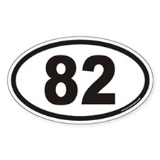 82 Euro Oval Decal