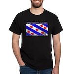 Friesland Frisian Flag Black T-Shirt