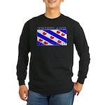 Friesland Frisian Flag Long Sleeve Black T-Shirt