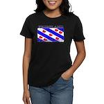 Friesland Frisian Flag Women's Black T-Shirt