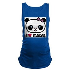 I Love Pandas Maternity Tank Top