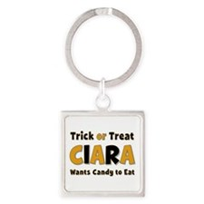 Ciara Trick or Treat Square Keychain