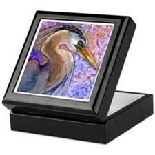 Beautiful Bird Wildlife Great Blue Heron Tile Box