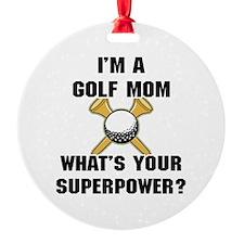 Golf Mom Round Ornament
