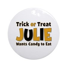 Julie Trick or Treat Round Ornament