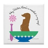 Meerkat Soup Tile Coaster