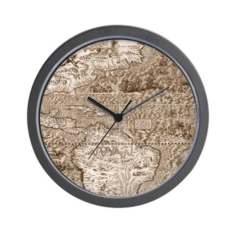 Gutierrez Antique Map Wall Clock