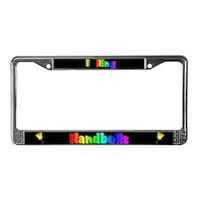I Ring Handbells Black License Plate Frame