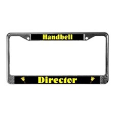 Handbell Director Black License Plate Frame