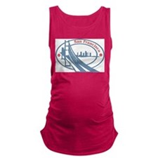 Retro San Francisco Maternity Tank Top