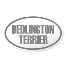 Bedlington Terrier Oval Decal
