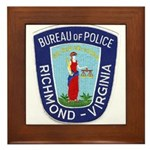 Richmond Police Framed Tile