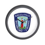 Richmond Police Wall Clock