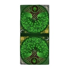 Circle Celtic Tree of Life Beach Towel