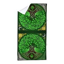 Circle Celtic Tree of Life Beach Towel