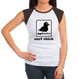 Chick Sports Surf Surfing Sports Cap-Sleeve Shirt