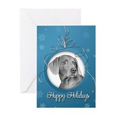 Elegant Weimaraner Holiday Card
