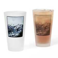 Mountain View Drinking Glass