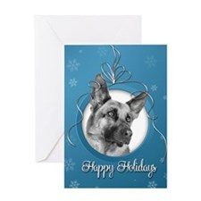 Elegant German Shepherd Holiday Card