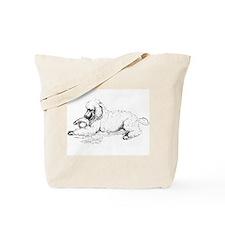 Playful Poodle Tote Bag