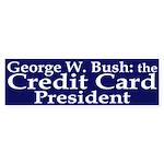 Bush: Credit Card President Sticker (Bum