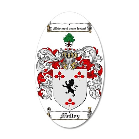 Malloy Family Crest / Malloy 35x21 Oval Wall Decal