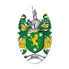 Malone Family Crest / Coat of Arms Oval Car Magnet