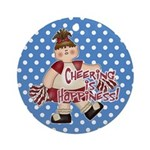 Cheering is Happiness Ornament (Round)