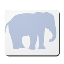 Baby Blue Elephant Mousepad