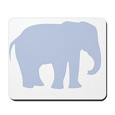 Baby Blue Elephant Mousepad
