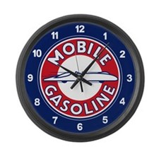 Mobile Gasoline Large Wall Clock