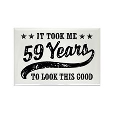 Funny 59th Birthday Rectangle Magnet