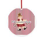 Cheerleaders Rock (red) Ornament (Round)