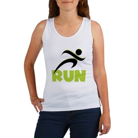 RUN in Spring Green Women's Tank Top