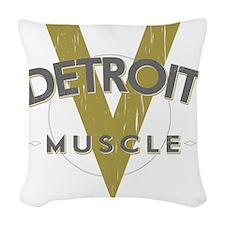 Detroit Muscle Woven Throw Pillow