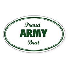Proud Army Brat Oval Decal