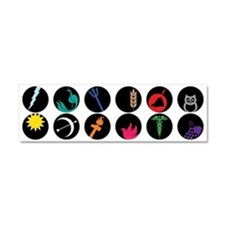 Greek Gods Car Magnet 10 x 3