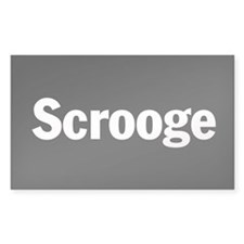 Scrooge Rectangle Decal