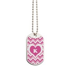CUSTOMIZE Monogram PINK ZigZag Dog Tags