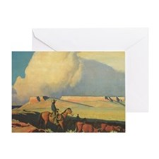 Open Range by Maynard Dixon Greeting Card