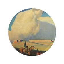 "Open Range by Maynard Dixon 3.5"" Button"
