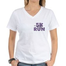 5K Run Purple Shirt