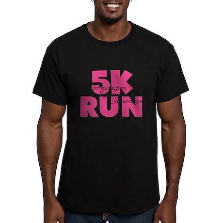 5K Run Pink Men's Fitted T-Shirt (dark)
