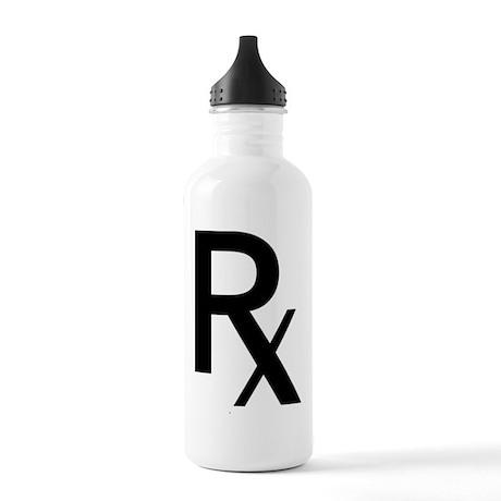 Pharmacy Rx Symbol Water Bottle